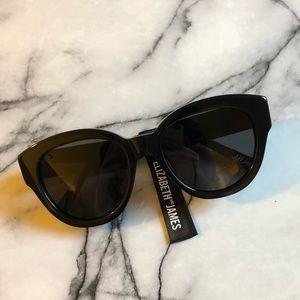 NEW Elizabeth and James Black Atkins Sunglasses